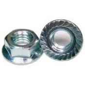 SAFE NUTS WITH FLANGE ZINC DIN6923