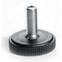 ADJUSTABLE FOOT WITH ROUND BASE AND ZINC-PLATED IRON BOLT