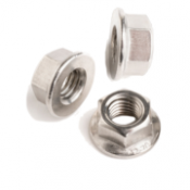 SAFETY NUTS WITH FLANGE INOX