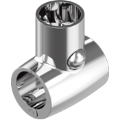 HANDRAIL FITTINGS 90 HINGED T A4/316